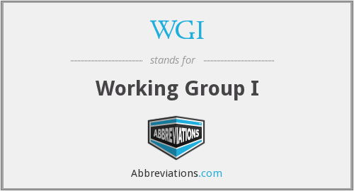 WGI - Working Group I