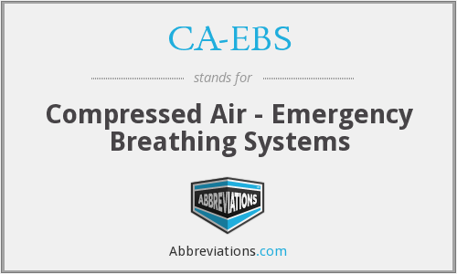 What does CA-EBS stand for?