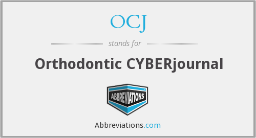 OCJ - Orthodontic CYBERjournal