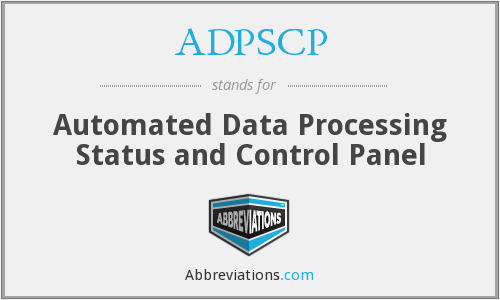 What does ADPSCP stand for?