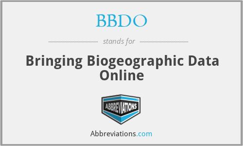 BBDO - Bringing Biogeographic Data Online