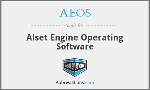 AEOS - Alset Engine Operating Software