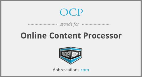 OCP - Online Content Processor