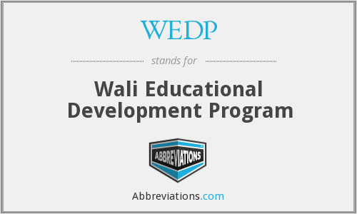 What does WEDP stand for?