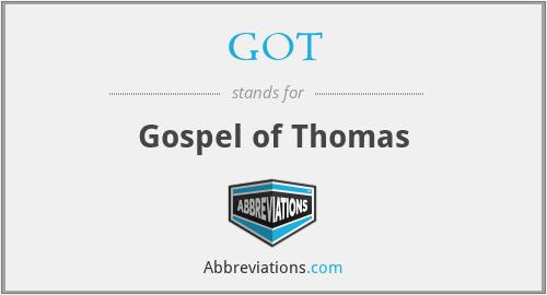 GOT - Gospel of Thomas