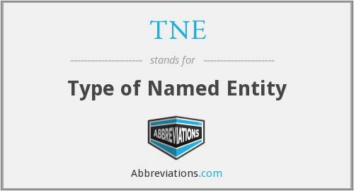 TNE - Type of Named Entity