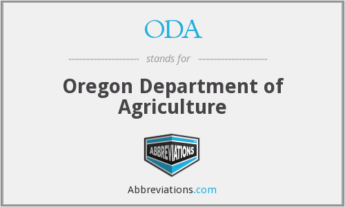 ODA - Oregon Department of Agriculture