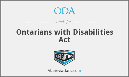 ODA - Ontarians with Disabilities Act
