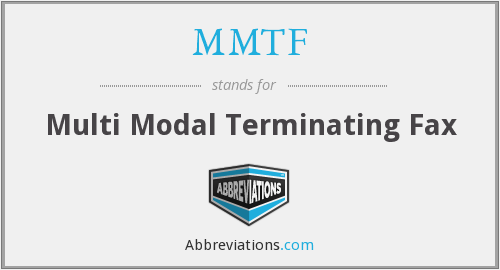 What does MMTF stand for?