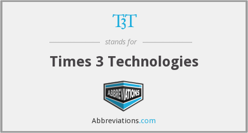 T3T - Times 3 Technologies
