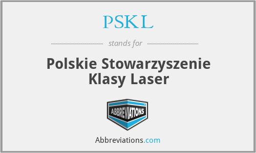 PSKL - Polskie Stowarzyszenie Klasy Laser