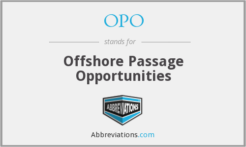 OPO - Offshore Passage Opportunities