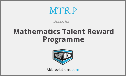 MTRP - Mathematics Talent Reward Programme