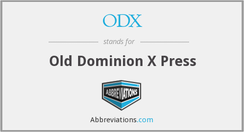 ODX - Old Dominion X Press