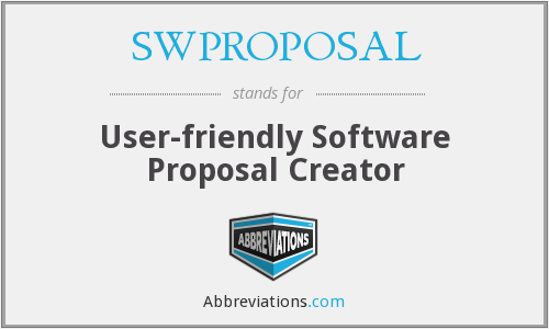 What does SWPROPOSAL stand for?