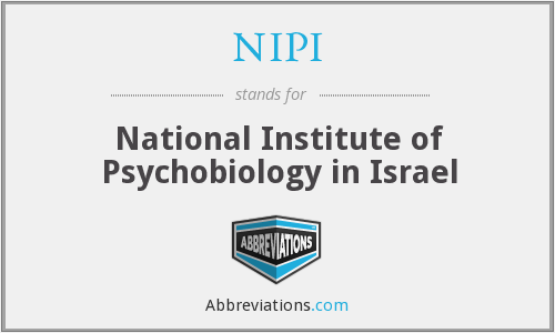 NIPI - National Institute of Psychobiology in Israel