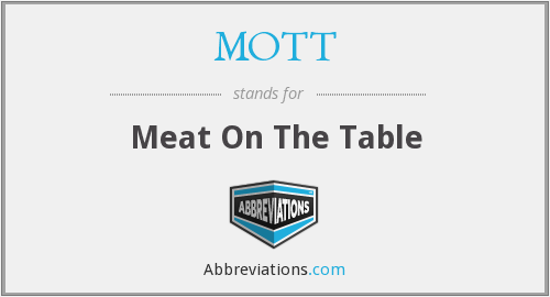 MOTT - Meat On The Table