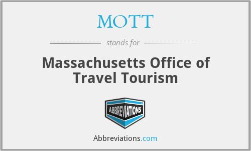 MOTT - Massachusetts Office of Travel Tourism