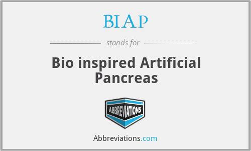 BIAP - Bio inspired Artificial Pancreas