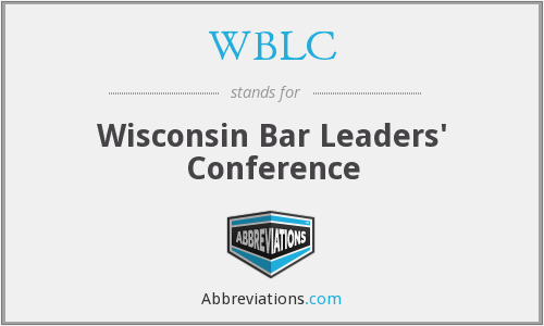 WBLC - Wisconsin Bar Leaders' Conference