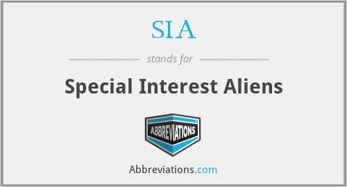 SIA - Special Interest Aliens