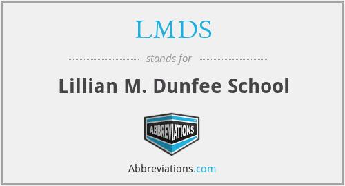 LMDS - Lillian M. Dunfee School