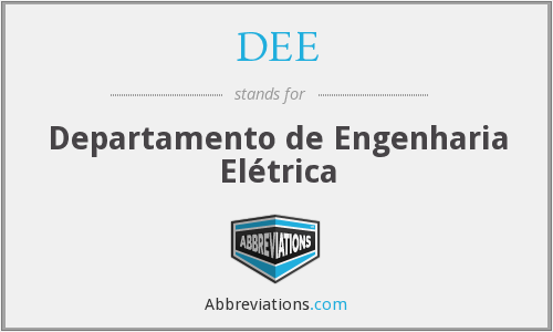 DEE - Departamento de Engenharia Elétrica