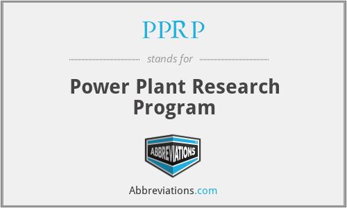 PPRP - Power Plant Research Program