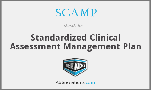 SCAMP - Standardized Clinical Assessment Management Plan