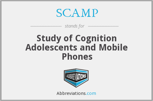SCAMP - Study of Cognition Adolescents and Mobile Phones