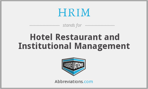 What does HRIM stand for?