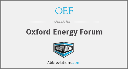OEF - Oxford Energy Forum
