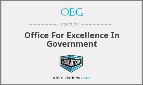 OEG - Office For Excellence In Government