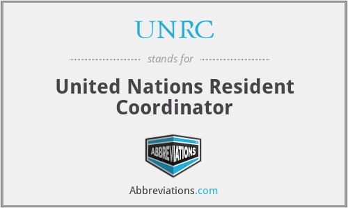 UNRC - United Nations Resident Coordinator