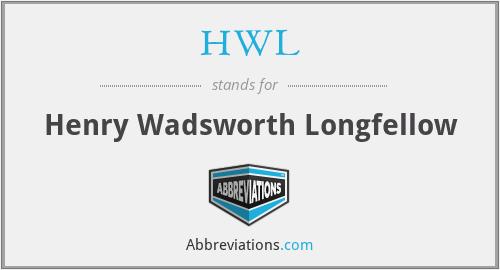 HWL - Henry Wadsworth Longfellow