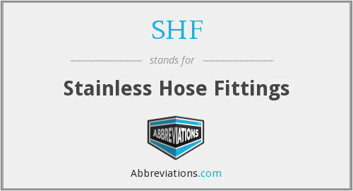 SHF - Stainless Hose Fittings