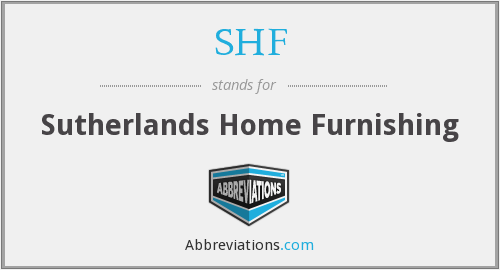 SHF - Sutherlands Home Furnishing
