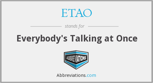 What does ETAO stand for?