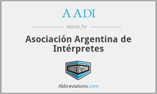 AADI - Asociación Argentina de Intérpretes