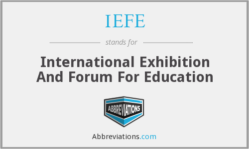 What does IEFE stand for?
