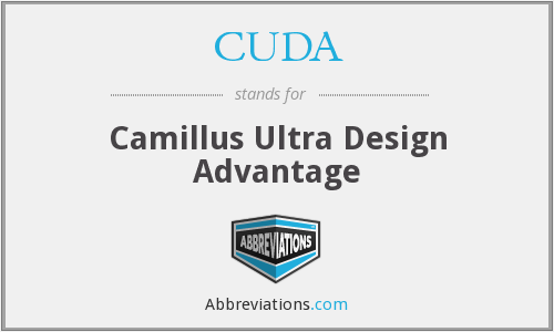 CUDA - Camillus Ultra Design Advantage