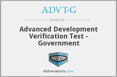 ADVT-G - Advanced Development Verification Test - Government