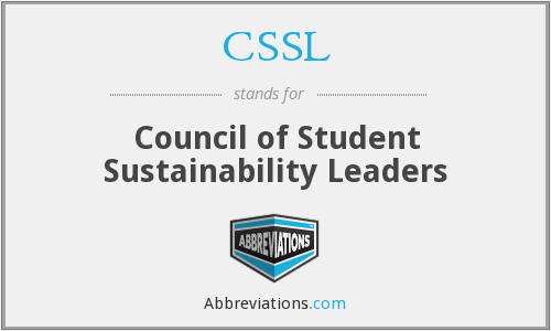 CSSL - Council of Student Sustainability Leaders