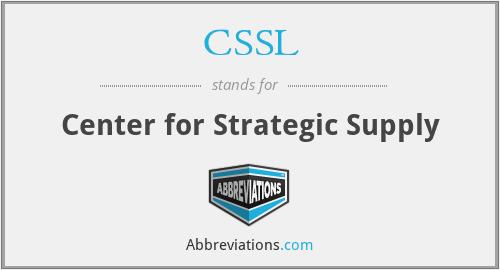 CSSL - Center for Strategic Supply