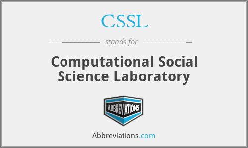 CSSL - Computational Social Science Laboratory