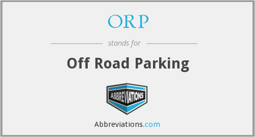 ORP - Off Road Parking