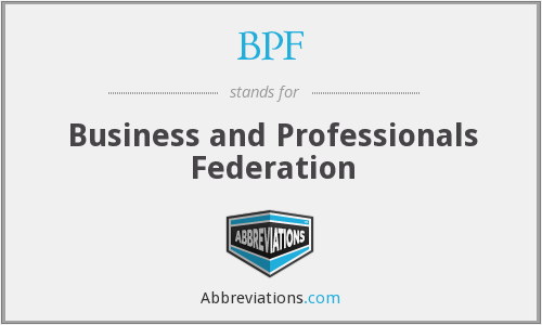 What does BPF stand for?