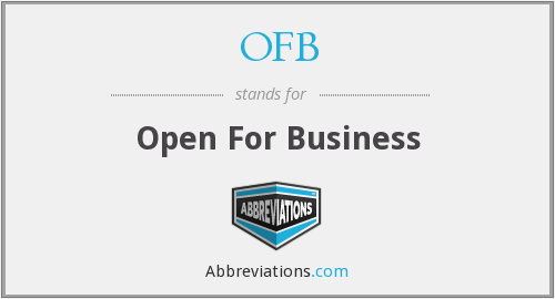 OFB - Open For Business