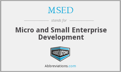 MSED - Micro and Small Enterprise Development