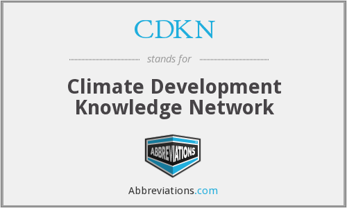 What does CDKN stand for?